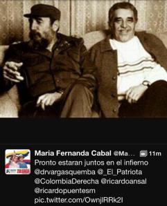 María Fernanda Cabal no es la bruta del uribismo como la están llamando en twitter a través del hashtag #CabalLaBrutaDelUribismo; reducir a esto su cuestionado trino es desconocer la encarnación del dinosáurico discurso McCarthiano que hoy se está viviendo en Colombia